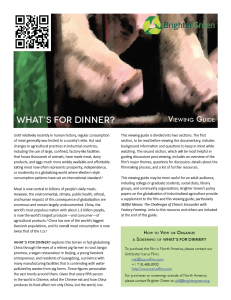 What's For Dinner? Viewing Guide (Letter)